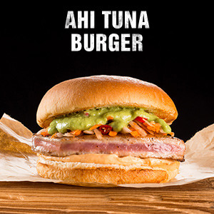 Ahi Tuna Burger (Thunfisch-Steak Burger)